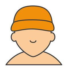 Mechanic shirtless avatar character icon vector