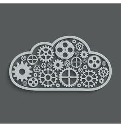 modern mechanism computing cloud concept vector image vector image