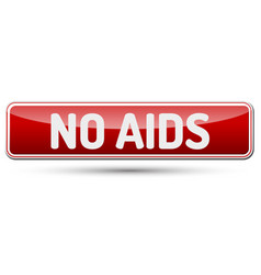 No aids - abstract beautiful button with text vector