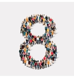 People form number eight vector