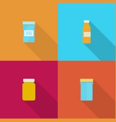 Pill bottle for capsules vector
