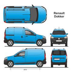 Renault dokker delivery van 2013 vector