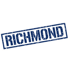 Richmond blue square stamp vector