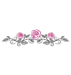 Roses vintage border vector image vector image