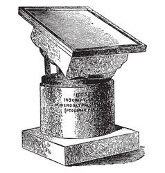 Rosetta stone hieroglyphic vintage engraving vector