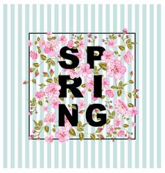 Spring sale concept vector