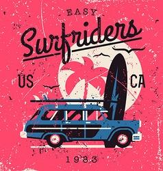 Vintage surfriders vector