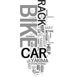 Yakima car bike racks text word cloud concept vector