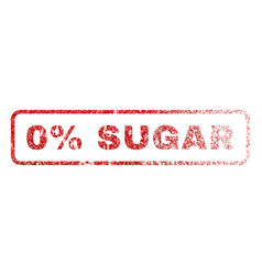0 percent sugar rubber stamp vector