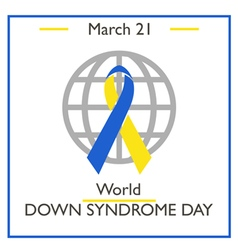 Down Syndrome Day vector image