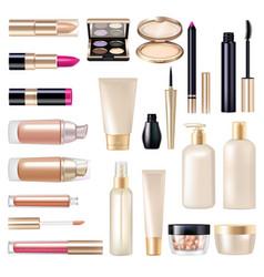 Makeup items super set vector