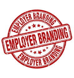 Employer branding red grunge stamp vector