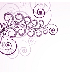 abstract floral curls vector image