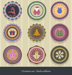 Christmas-labels vector
