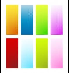 hexagonal texture glossy banners vector image