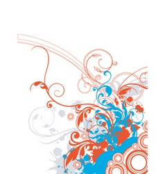 Floral graphic border vector