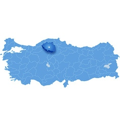 Map of turkey cankiri vector