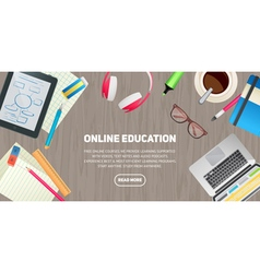 Flat design concept for education study vector