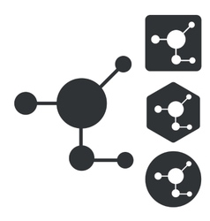 Molecule icon set monochrome vector