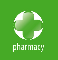 Round logo cross for pharmacy vector