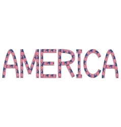 America inscription made from usa flags vector