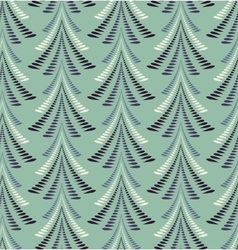 Seamless Christmas pattern Stylized blue ornament vector image