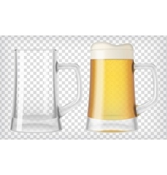 Two beer glasses vector