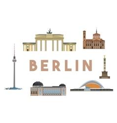 Berlin landmarks skyline vector