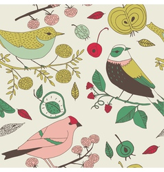 bird nature background vector image