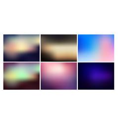 Blurred backgrounds set vector