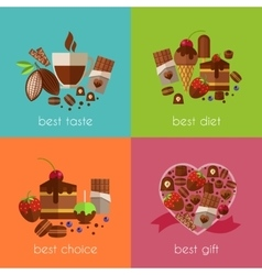 Chocolate is the best diet banners vector image vector image