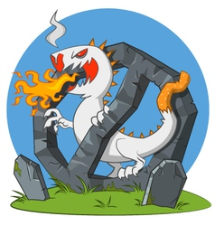 Cigarette - monster vector image vector image
