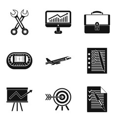 Customer-centricity icons set simple style vector