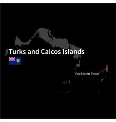 Detailed map of turks and caicos islands and vector