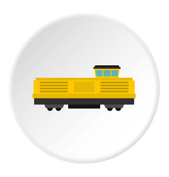 Freight train icon circle vector