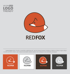 Logo with red fox vector
