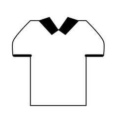 masculine shirt icon image vector image