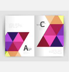 Mosaic triangle annual report template vector