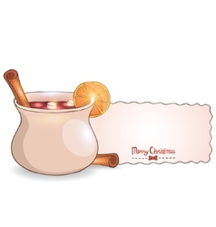 Mulled wine with cinnamon vector