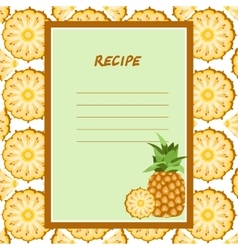 pineapple recipes on a seamless texture vector image vector image