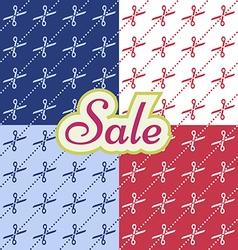 Sale pattern witj cutting scissors vector