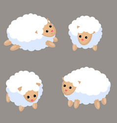 Set of cute sheep set of cute sheep vector