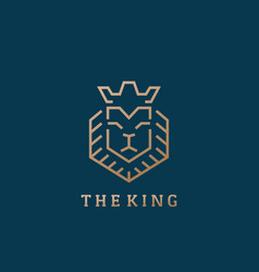 the king lion face line style abstract sign vector image vector image