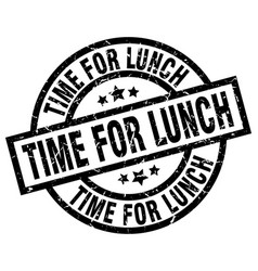 time for lunch round grunge black stamp vector image vector image