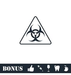 Virus icon flat vector