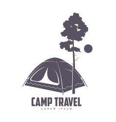 camping logo template vector image