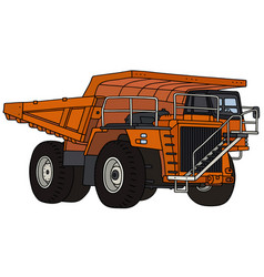 orange mining dump truck vector image