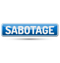 Sabotage - abstract beautiful button with text vector