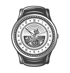 vintage beautiful watches design concept vector image