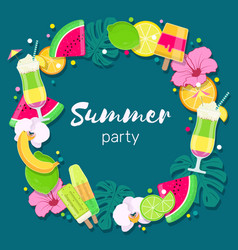 Tropical party background vector